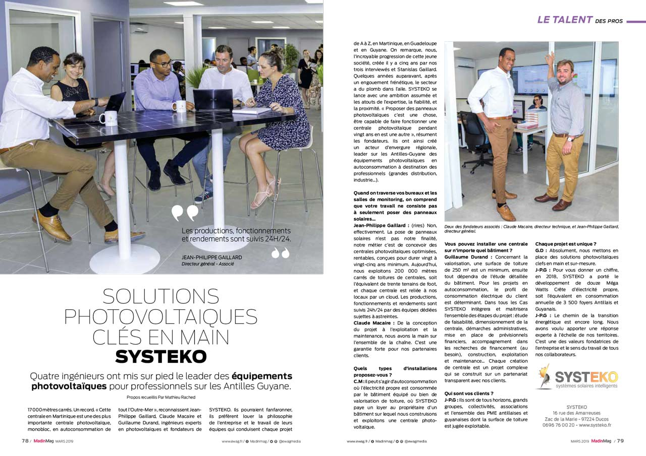 Interview des dirigeants de SYSTEKO par EWAG